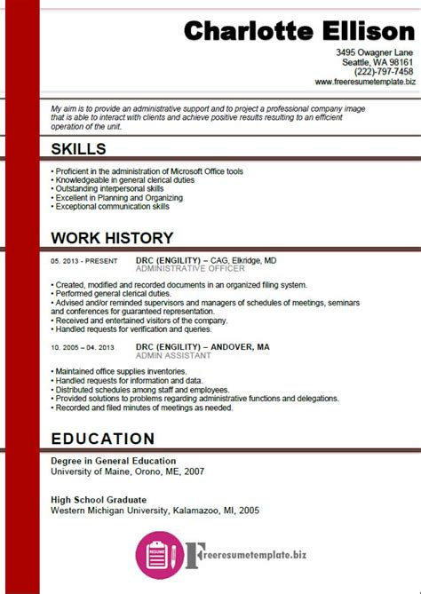 Assistant Resume Template by Accounts Payable Resume Template Free Resume Templates