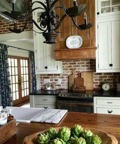 kitchen with brick backsplash the wood and brick backsplash home 6498