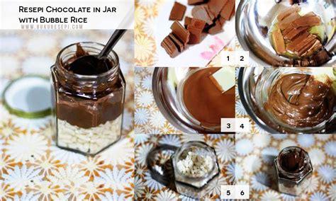 resepi chocolate  jar  bubble rice bukuresepicom