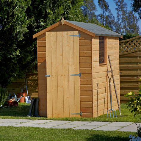 shiplap shed 6x4 6x4 shetland apex shiplap wooden shed base included