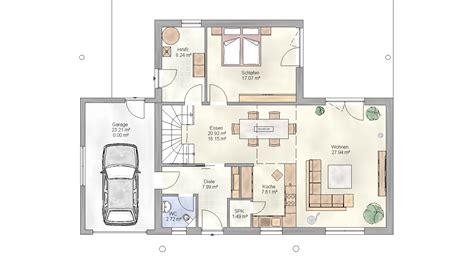 Grundriss Haus Integrierte Garage by Massives Einfamilienhaus Mit Garage