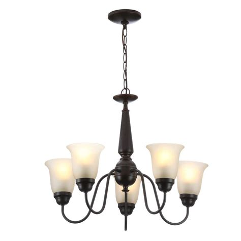 chandeliers at home depot electric 5 light rubbed bronze reversible