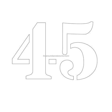 Free 10 Inch 45 Number Stencil Freenumberstencilscom