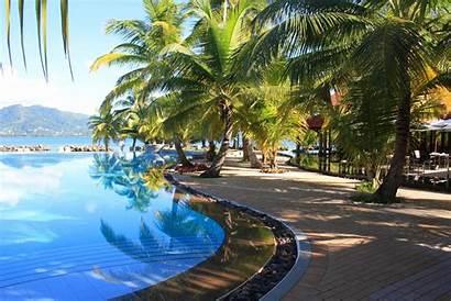Pool Tropical Peaceful Desktop Pemandangan Swimming Widescreen