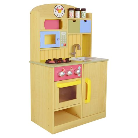 play kitchen accessories teamson chef burly wood kitchen with 4855
