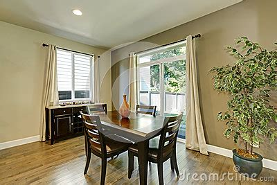 typical american dining room interior design stock photo