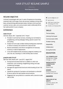 What To Write In Profile Of Resumes Cosmetologist Resume Sample Writing Guide Resume Genius