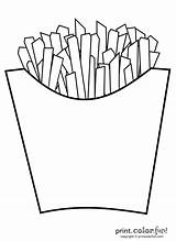 Fries French Coloring sketch template