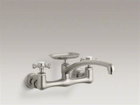 Wall Mounted Kitchen Faucet With Soap Dish by Kohler Antique Two Wall Mount Kitchen Sink Faucet