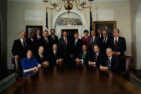 Bush Administration Cabinet by 41 George H W Bush 1989 1993 U S Presidential History