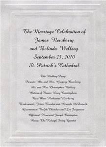 wedding programs wording etiquette storkie With wedding ceremony remembrance wording