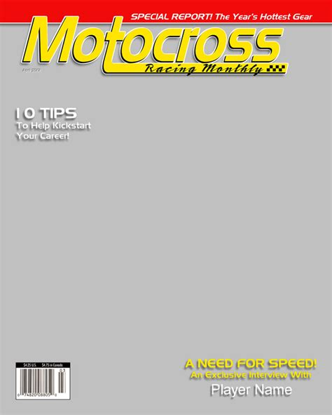 blank sport magazine cover template magazine covers