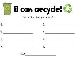 reduce reuse recycle earth day activity lesson plan 453 | da5d938437f30312d1ae51739ae868ca