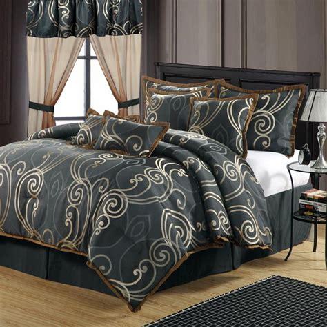 martha stewart grand damask queen  piece comforter bed