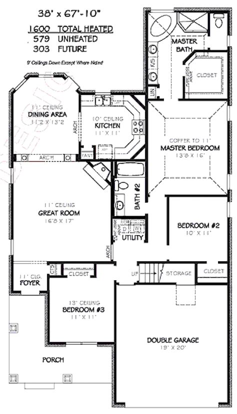 Craftsman Style House Plan 3 Beds 2 00 Baths 1600 Sq/Ft