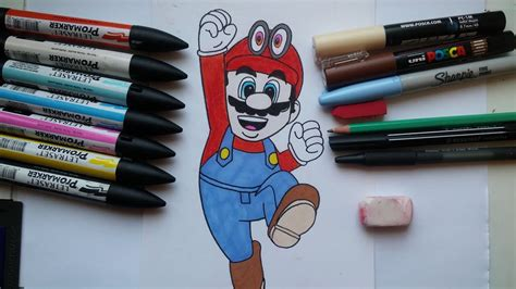 Speed Drawing Mario Super Mario Odyssey Comment