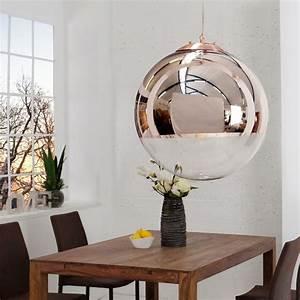 Pendelleuchte Kugel Kupfer : edle design h ngelampe globe 30cm glas kupfer kugelleuchte ~ A.2002-acura-tl-radio.info Haus und Dekorationen