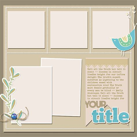 scrapbook page sketch  template