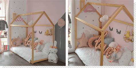 cabane chambre fille chambre enfant le lit cabane décoration créative