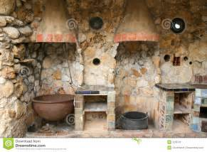 vintage canisters for kitchen rustic outdoor kitchen stock image image 2235731