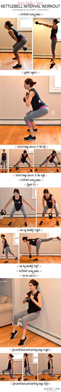 kettlebell lower body workout interval workouts fitness pumpsandiron exercise training pumps iron shape weight