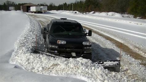 snow plowing darth dually  snowdogg  plow pushing wet