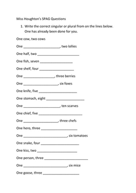 spag worksheets year 4 spag plurals and word classes worksheets by nahoughton