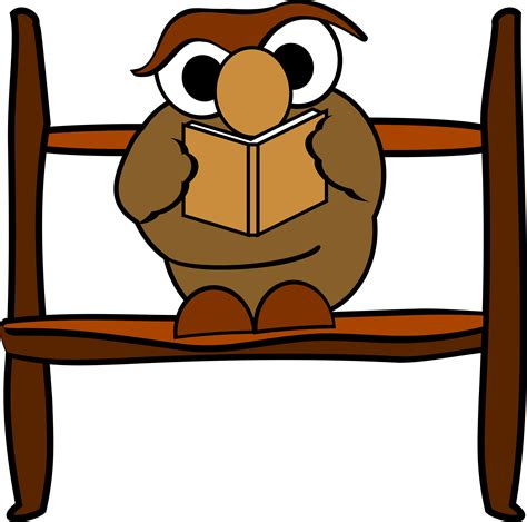 owl reading book clipart    clipartmag