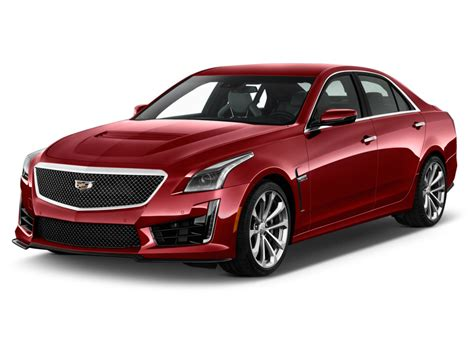 cadillac cts  front side red color white background