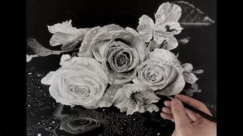 hyperrealism hyperrealistic roses drawing youtube