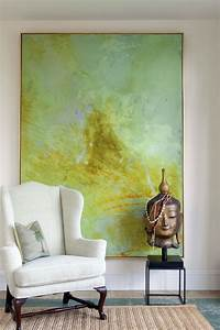 living room art 20 methods to make a bare room pop With what kind of paint to use on kitchen cabinets for huge wall art pieces