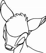 Bambi Sleep Head Coloring Pages Print sketch template