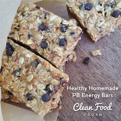 Healthy Homemade Energy Bars Clean Food Crush