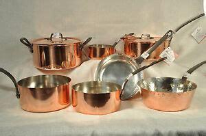baumalu assorted copper cookware pots  pans alsace france  ebay