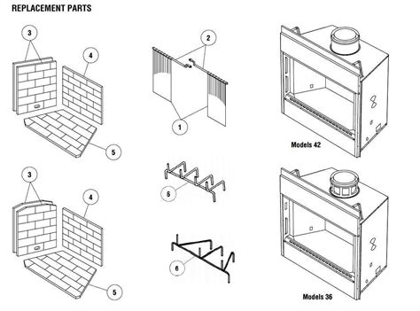superior fireplace parts a plus inc superior bc 36 replacement parts and