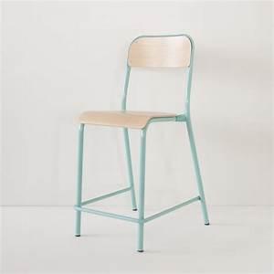 Chaise D école : chaise d 39 cole rehauss e turquoise made in france ~ Teatrodelosmanantiales.com Idées de Décoration