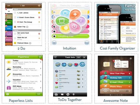 top 6 apps organizing