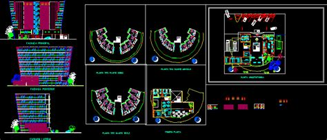 family hotel  parking  floor plans  dwg elevation