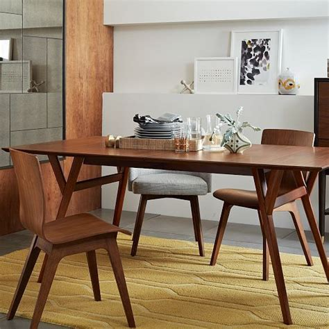 West Elm Dining Room Tables by Mid Century Expandable Dining Table West Elm