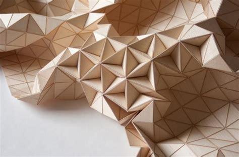 wooden textiles  origami designs  celebrate geometric
