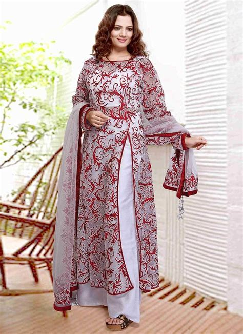 white net palazzo suit simple stylish