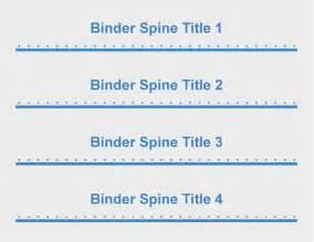 1 2 Inch Binder Spine Template