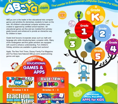 educational resource abcyacom  learning games