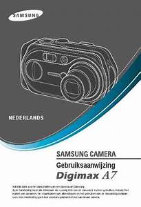 Samsung Digimax A7 The Camera   Camera Download Manual For