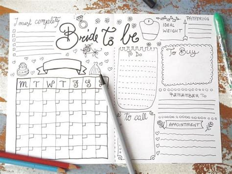bride   wedding planner bullet journal wedding ideas