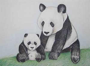 Pencil Art Work Panda Love1 Original Drawing-Print