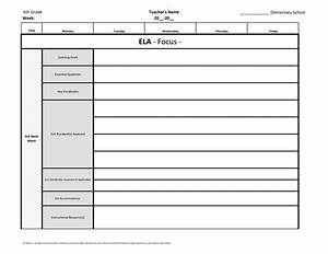 6th sixth grade common core weekly lesson plan template w With 6 week lesson plan template