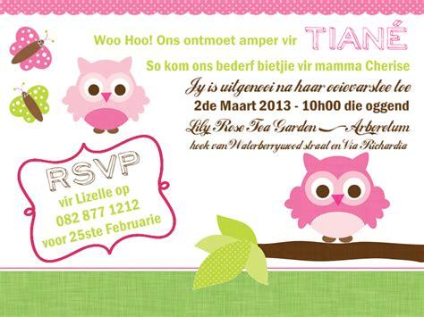 examples  afrikaans birthday invitations