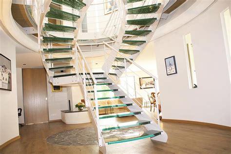 re escalier en verre escalier sur mesure en verre feuillet 233 righetti