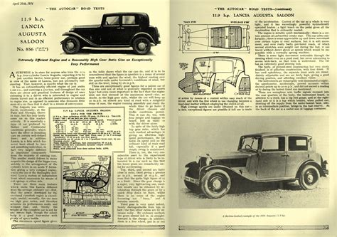1934 Lancia Augusta Antique Car Magazine